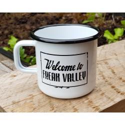 "Enamel cup ""Welcome to Freak Valley"" / ""Rock Freaks Records"""